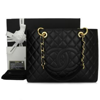 Chanel Black Caviar Leather GST