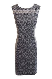Badgley Mischka Snake Print Midi Dress