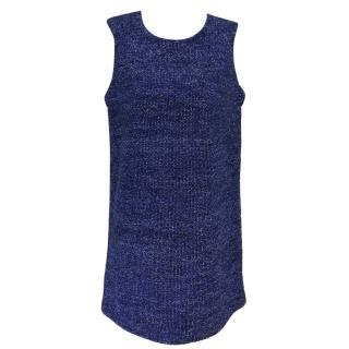 Maje Blue Sleeveless Knit Dress