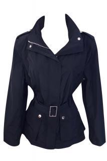 Aquascutum Belted Black Jacket
