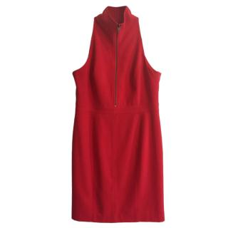 Marc Jacobs Twill Pinafore Dress in Red