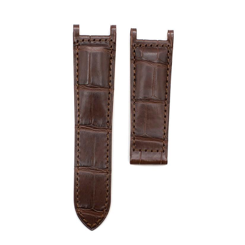 Cartier Brown Alligator Leather Watch Strap