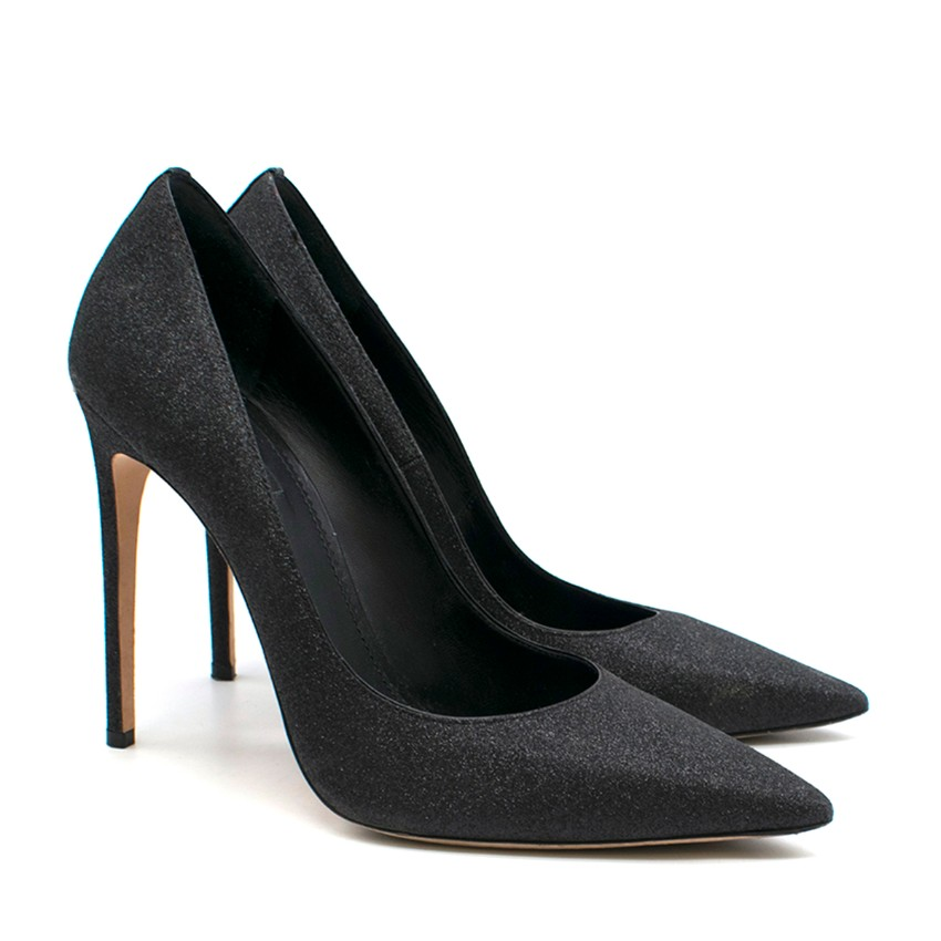 Dsquared2 Black Glitter Pumps