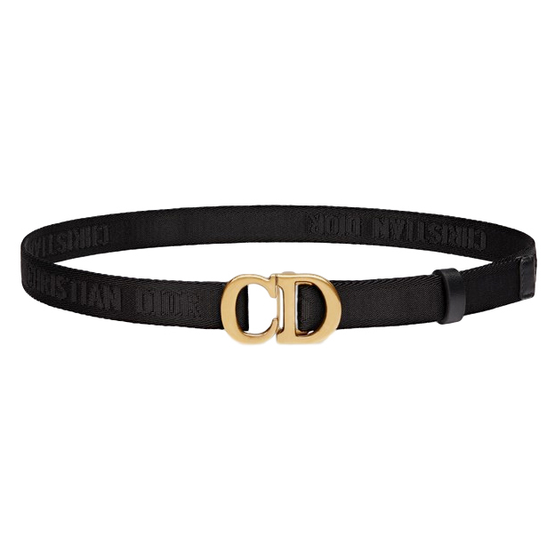 Dior Black Saddle Nylon Belt - New Season