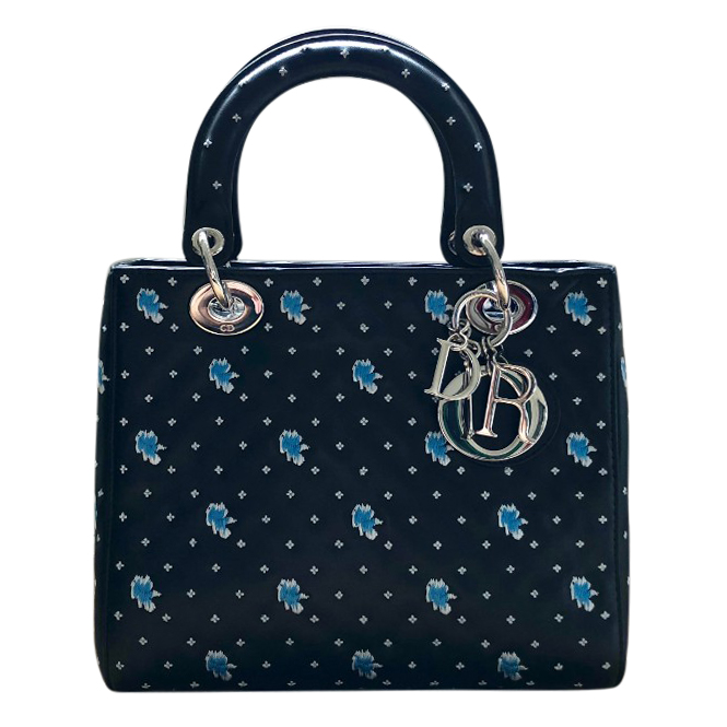 Dior Floral Embroidered Medium Lady Dior Bag