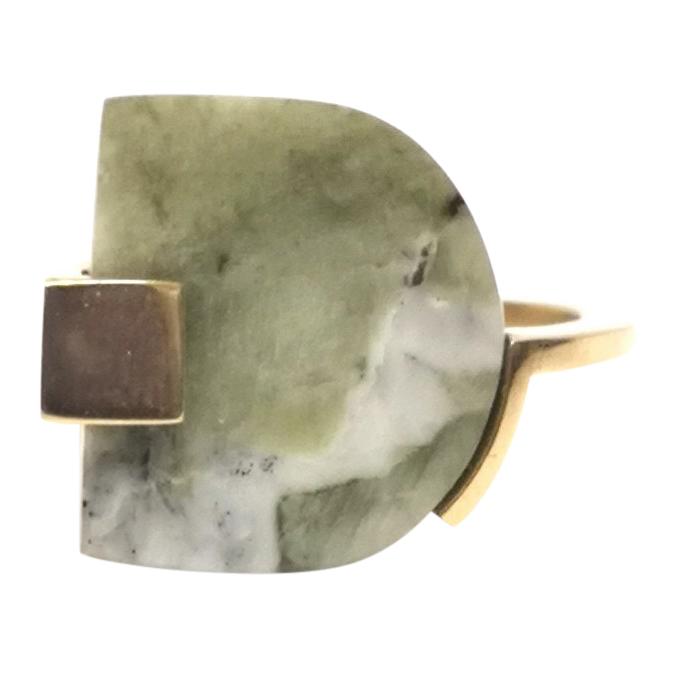 Marion Vidal Green Marble Stack Ring