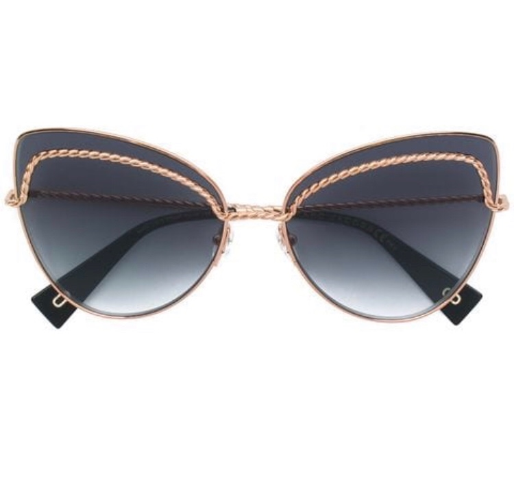 Marc Jacobs Cat-Eye Chain Trim Sunglasses