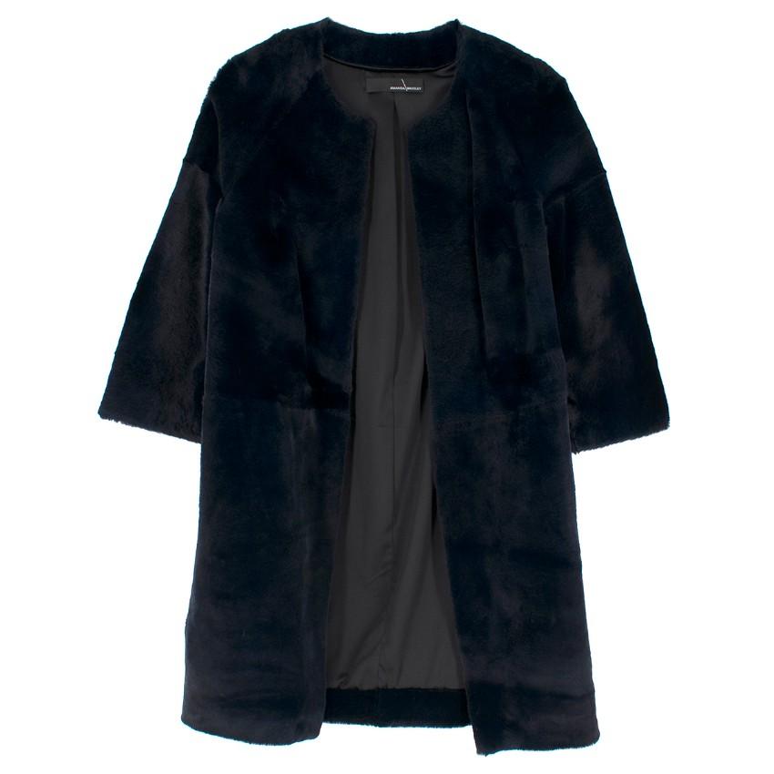 Amanda Wakeley Black Caro Sheared Fur Jacket
