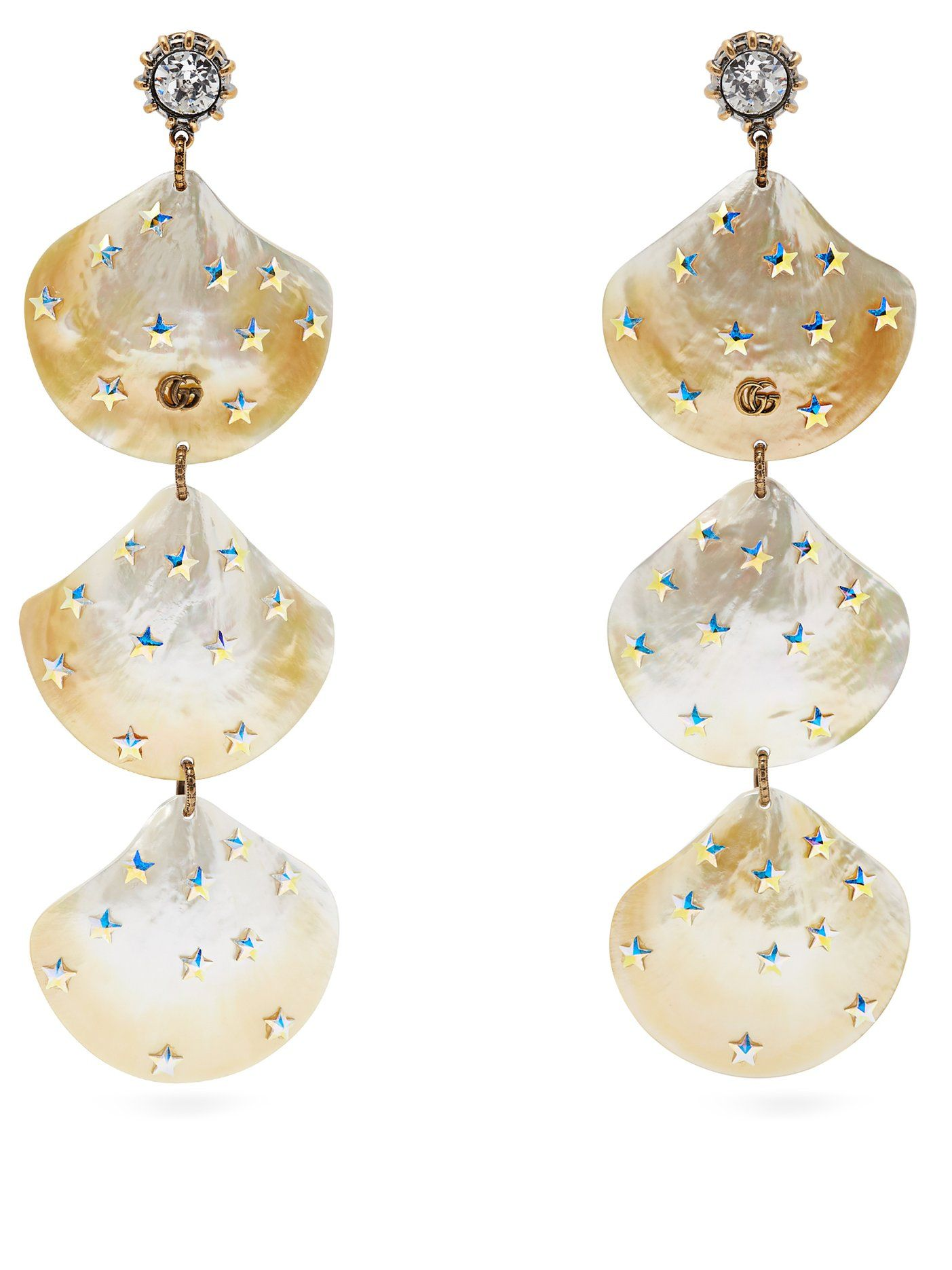 Gucci Mother of Pearl Cruise 2019 runway earrings