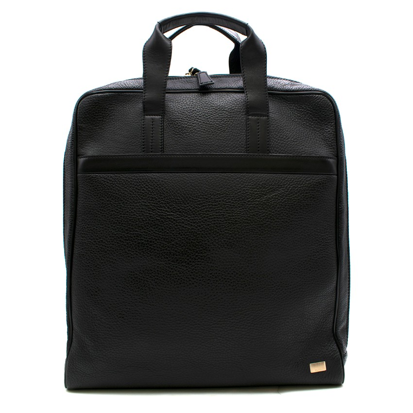 Dunhill Black Grained Leather Document Bag