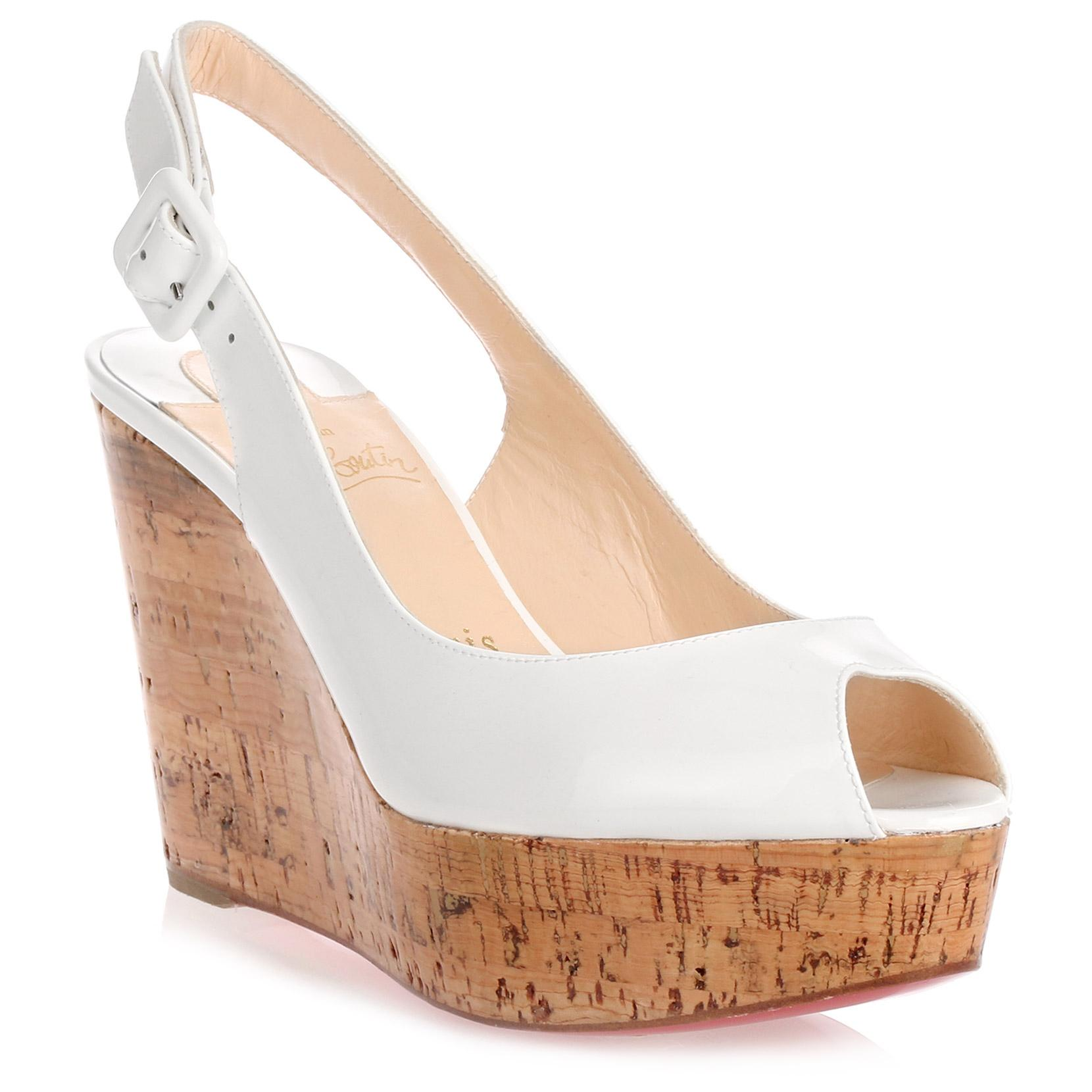 Christian Louboutin Une Plume Wedge Sandals