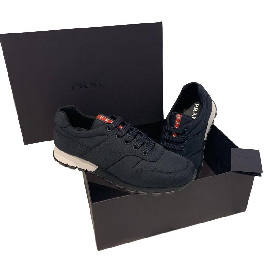 Prada Men's Navy Technical Sneakers