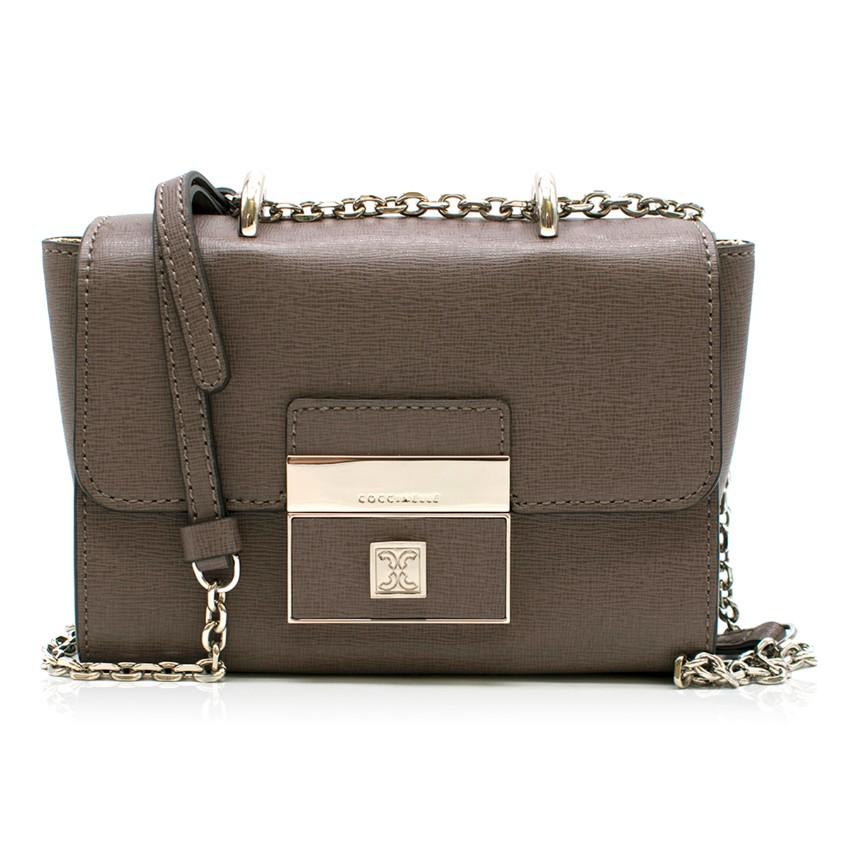 Coccinelle Taupe Shoulder Flap Bag