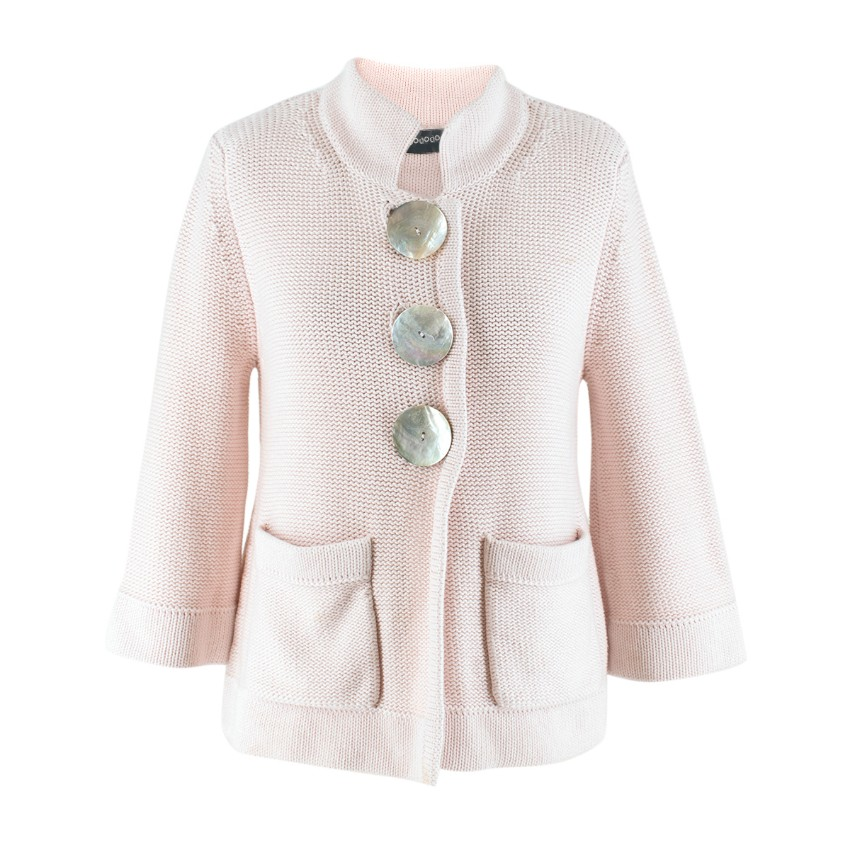 Goat Light Pink Cotton Cardigan