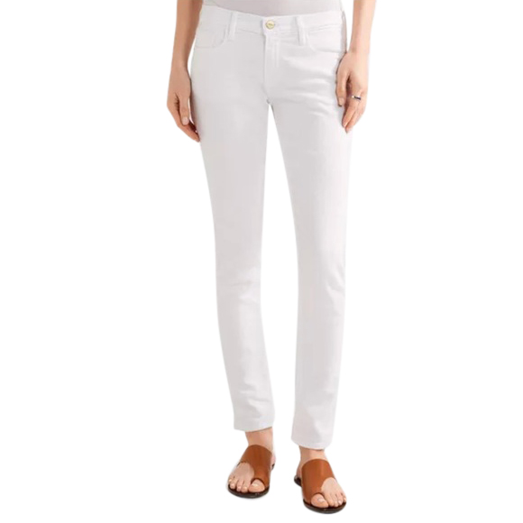 Frame Le Garcon White Straight Fit Jeans