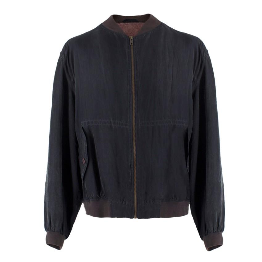 Jac Tissot Sport Sandwashed-Silk Bomber Jacket