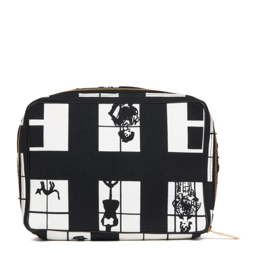 Chanel 'Window Line' Canvas Toiletry Pouch