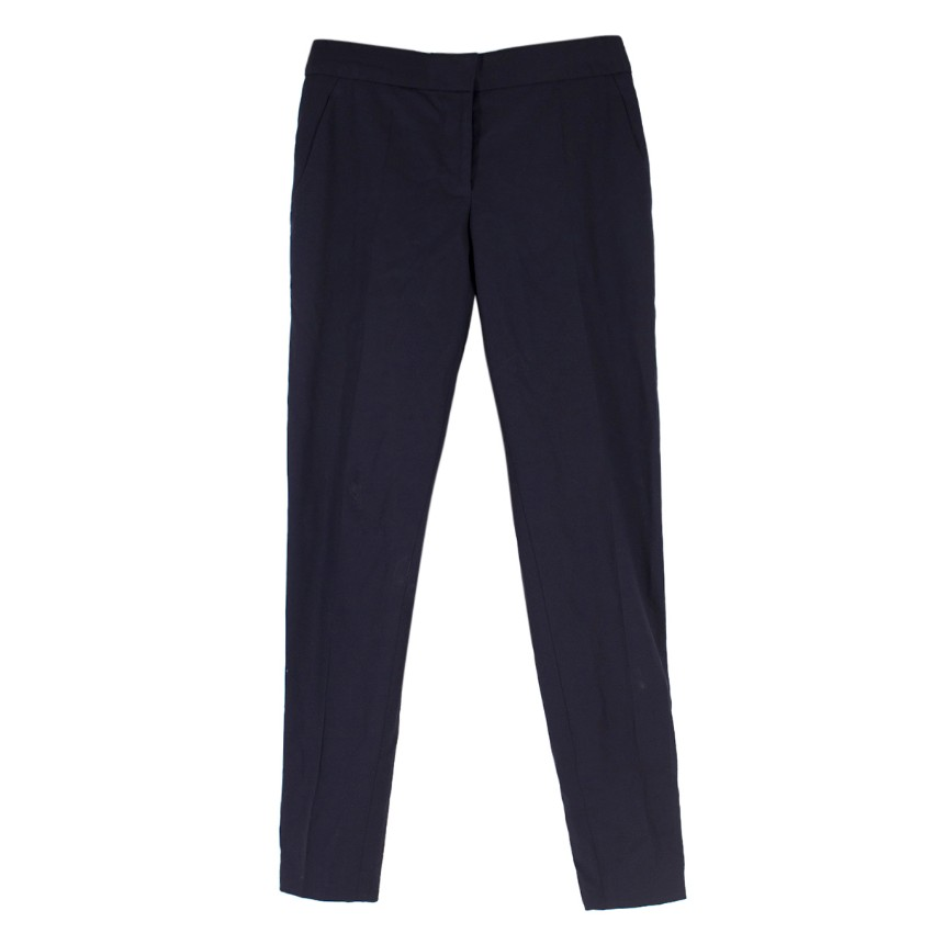 Stella McCartney Navy Wool Casual Trousers