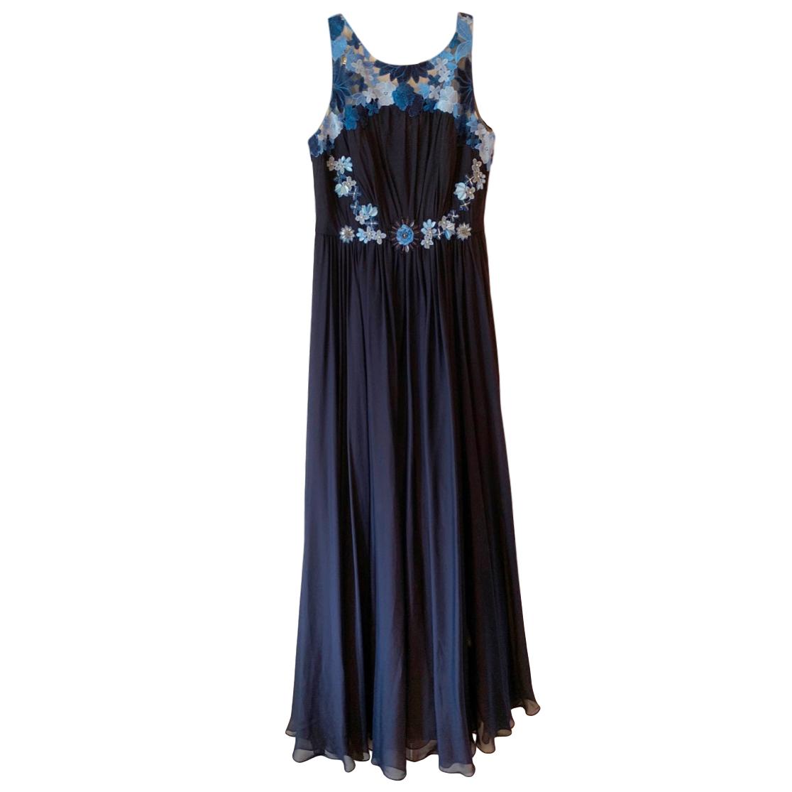 Badgley Mischka floral-applique gown