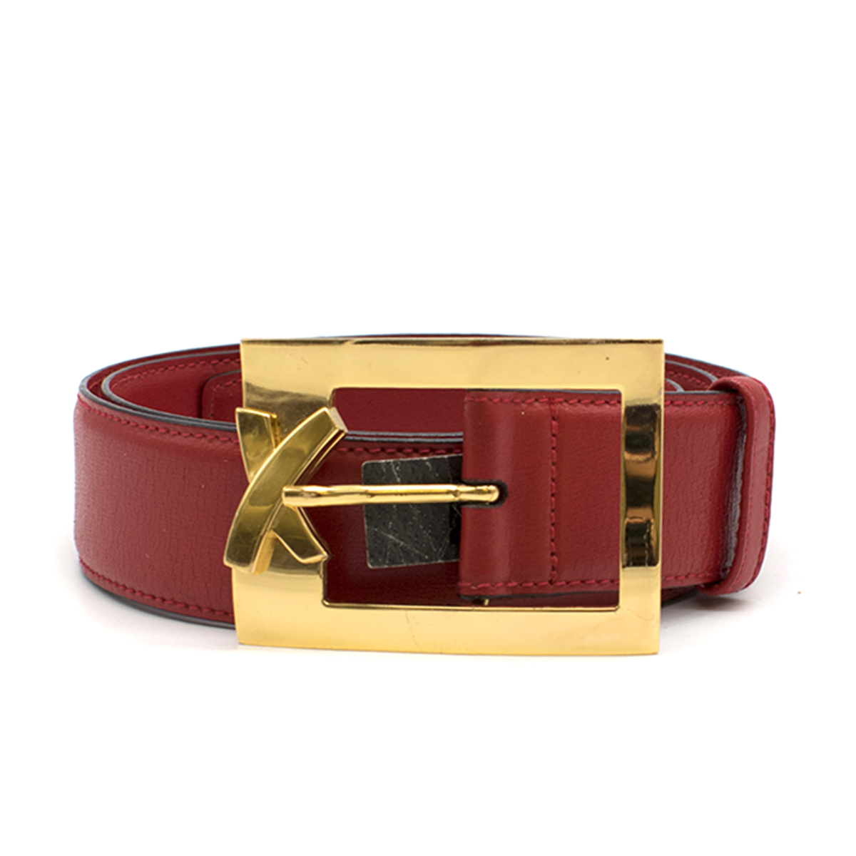 Paloma Picasso Red Leather Belt