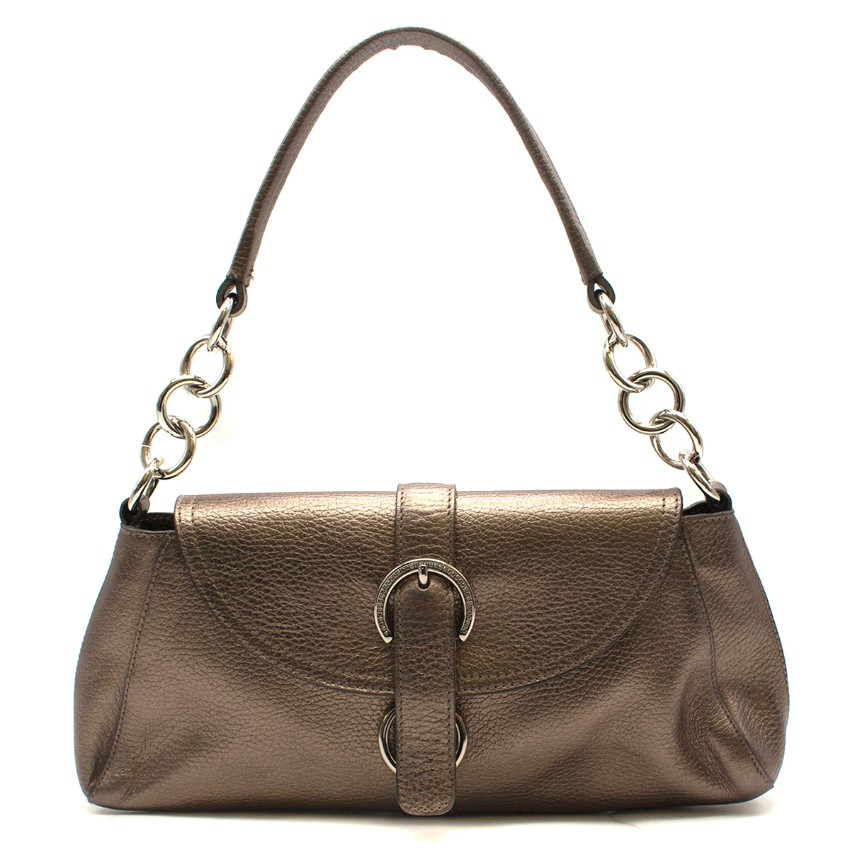 Furla Bronze Leather Shoulder Bag