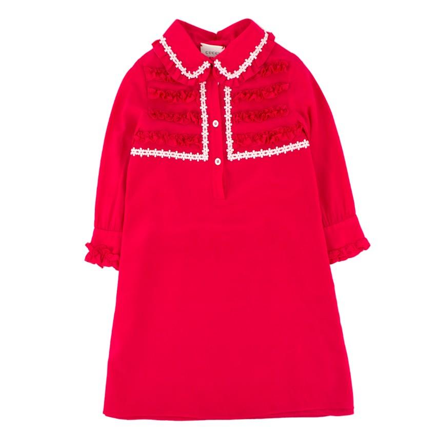 Gucci Girls 5-Years Hot Pink Ruffle Dress