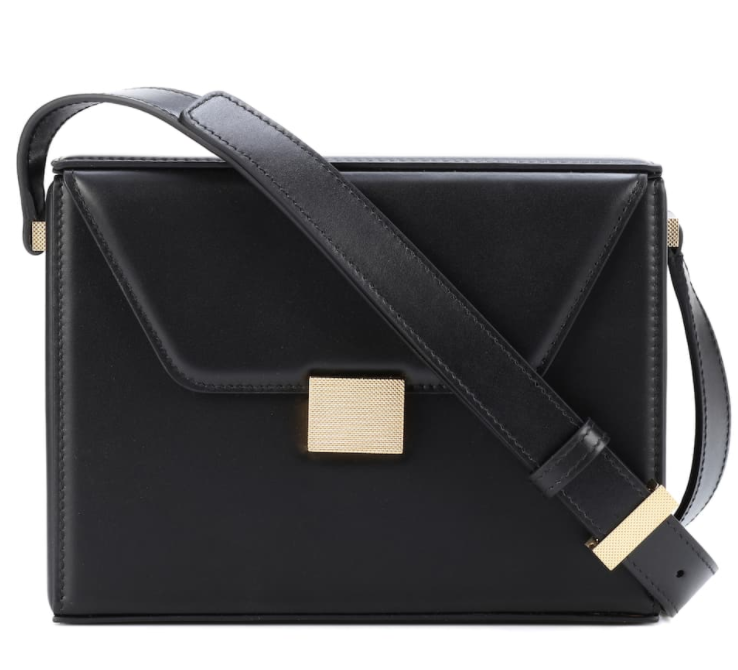 Victoria Beckham Black Leather Vanity Crossbody Bag
