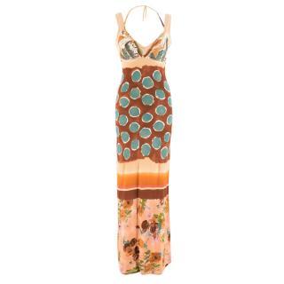 Jean Paul Gaultier Multi-Print Long Dress