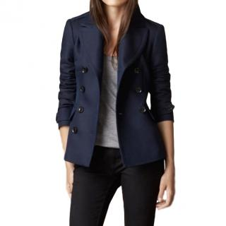 Burberry Brit Double Breasted Pea Coat