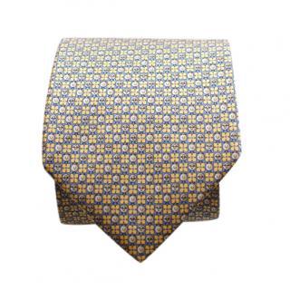 Salvatore Ferragamo Geometric-Print Silk Tie