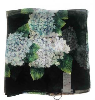 Dolce & Gabbana Hydrangea print silk square scarf