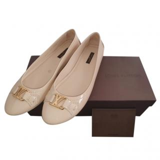 Louis Vuitton Oxford Paten Leather Ballet Flat Pumps