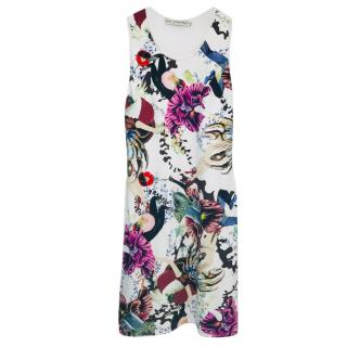 Mary Katranzou Multi-Print Sleeveless Dress