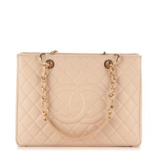Chanel Beige Caviar Leather GST Bag