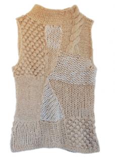 Blumarine Multi-Knit Cashmere Vest