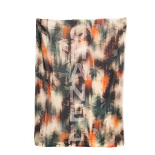 Chanel Multi-coloured Printed Wool Scarf