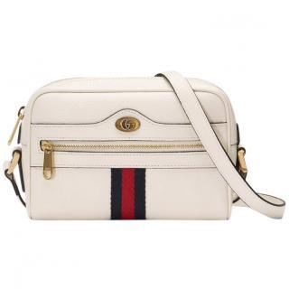 Gucci White Leather Ophidia Mini Bag - New Season