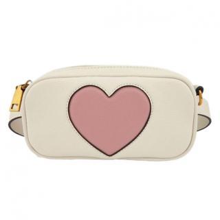 Essentiel Antwerp Samantha White Heart-embellished Belt Bag