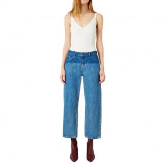 Iden Virginia Boyfriend Mid Blue Shadow Wash Jeans