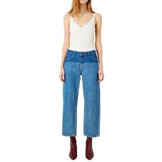 Iden Virginia Boyfriend Mid Blue Shadow Wash Jeans