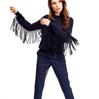 Essentiel Sao Paulo Wool-blend Fringed Sweater