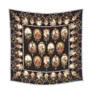 Dolce & Gabbana Madonna Print Silk Scarf