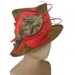 Vivien Sheriff Silk-Sash Top Hat