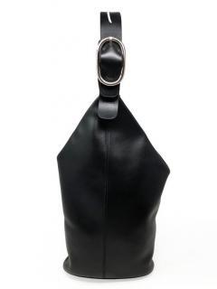 Sportmax Black Leather Bucket Bag