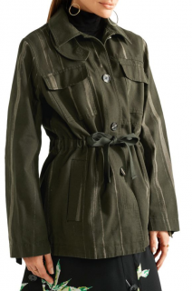Proenza Schouler Army Green Printed Cotton-Canvas Jacket