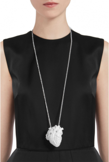 Mulberry Large White Heart Necklace