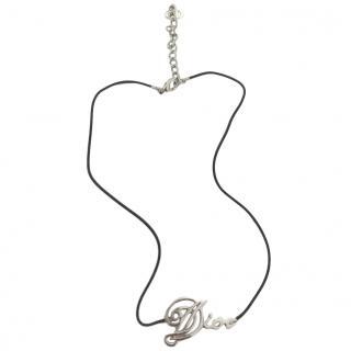 Dior Cord Logo Necklace