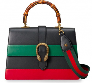 Gucci Dionysus Striped Bamboo Leather Bag