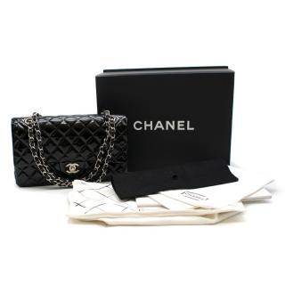 Chanel Black Patent Leather Double Flap Classic Handbag