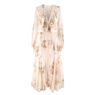Zimmermann Floral-print Ruffled Silk Maxi Dress